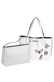 Guess - Shopper - White + Black + Silver
