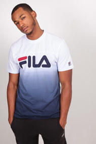 Fila - T-Shirt - White + Blue