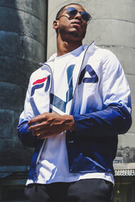 Fila - Windjacke - White + Blue