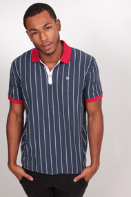 Fila - Poloshirt - Navy Blue + White + Red