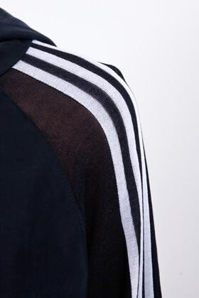 3 Stripes long Hoodie