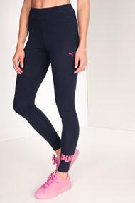 Puma - Leggings - Dark Navy Blue + Pink