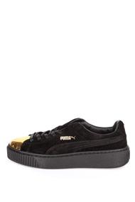 Puma - Plateau Sneaker low - Black + Gold
