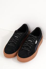 Puma - Suede sneakers plateforme basses - Black