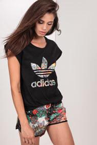 adidas Originals - T-Shirt - Black + Multicolor