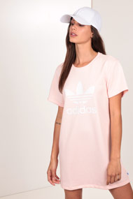adidas Originals - T-Shirt-Kleid - Rose + White