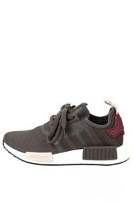 Adidas Originals - NMD_R1 Sneaker low - Dark Olive Green + Bordeaux