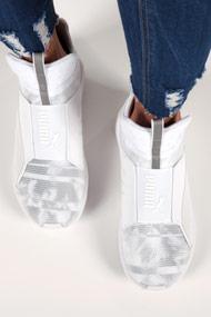 Puma - Fierce Sneaker high - White + Grey
