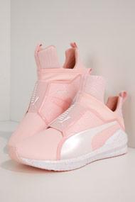 Puma - Fierce sneakers montantes - Rose + White