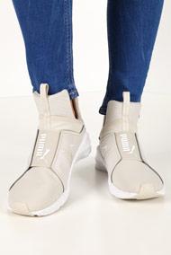 Puma - Fierce sneakers montantes - Beige + White