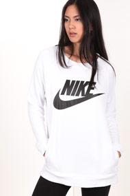 Nike - Sweatshirt - White + Black