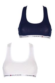 Tommy Hilfiger - Doppelpack Bralettes - Navy Blue + White