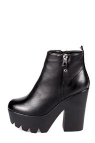 Miss88 - Plateau Stiefeletten - Black