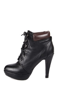 Miss88 - Ankle boots - Black + Brown