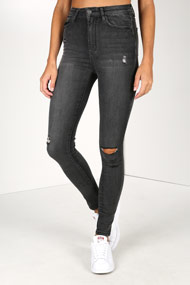 Tally Weijl - High Waist Skinny Jeans - Black