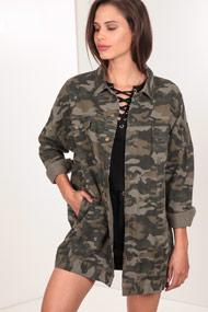 Vera & Lucy - Lange Jacke - Camouflage