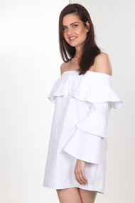 Ivivi - Robe off shoulder - White