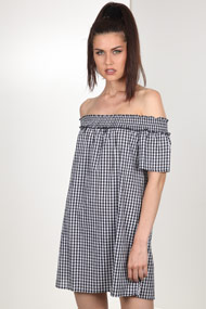 Ivivi - Robe off shoulder - Black + White