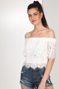 Ivivi - Top off shoulder - Offwhite