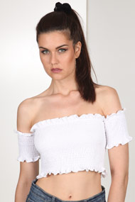 Ivivi - Top off shoulder - White