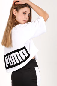 Puma - Oversize T-Shirt - White + Black