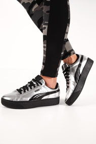 Puma - Sneakers plateforme basses - Silver + Black