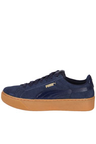 Puma - Plateau Sneaker low - Navy Blue + Brown