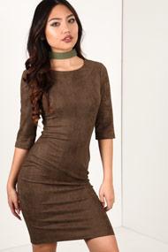 Vintage Dressing - Bodycon Kleid - Khaki