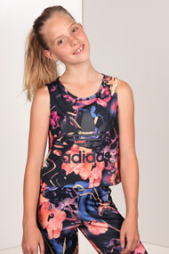 adidas Originals - Crop Top - Black + Multicolor