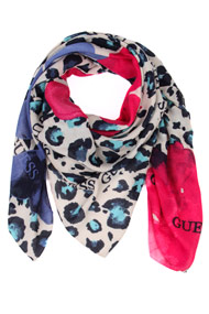 Guess - Tuch / Foulard - Beige + Blue + Pink