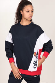 Ellesse - Oversize Sweatshirt - Navy Blue + White + Red