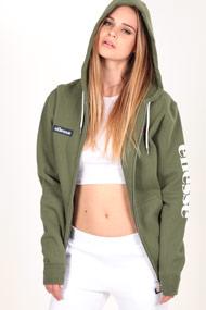 Ellesse - Kapuzensweatjacke - Olive Green + White