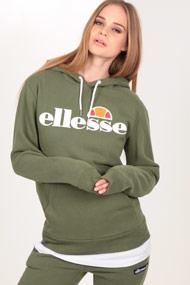 Ellesse - Kapuzensweatshirt - Olive Green + White