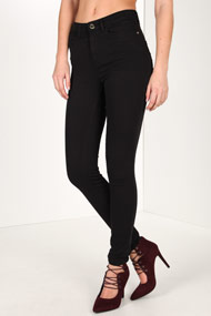 Guess - High Waist Skinny Jeans - Black