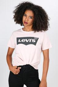 Levi's - T-Shirt - Rose + Black