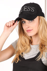 Guess - Strapback Cap - Black + Silver