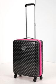 Guess - Reiserollkoffer - Black + Grey + Pink