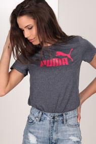 Puma - T-Shirt - Heather Navy Blue + Pink