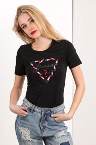 Guess - T-Shirt - Black + Multicolor