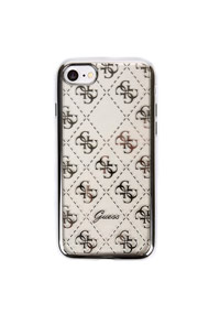 Guess - iPhone 7 Case - Transparent + Silver