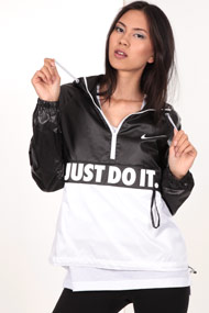 Nike - Veste coupe-vent - Black + White