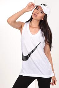 Nike - Tanktop - White + Black