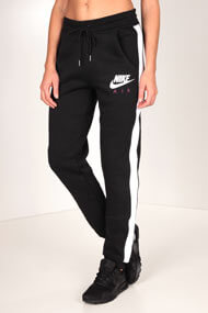 Nike - Pantalon de jogging - Black + White + Purple