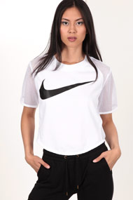 Nike - T-Shirt en mesh - White + Black