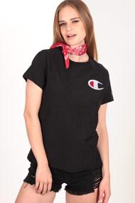 Champion - T-Shirt - Black + White + Red