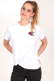 Champion - T-Shirt - White + Royal Blue + Red