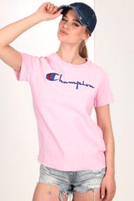 Champion - T-Shirt - Rose + Royal Blue