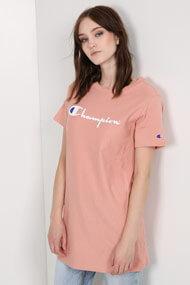 Champion - T-Shirt - Old Rose + White