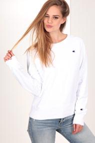 Champion - Sweatshirt - White + Royal Blue