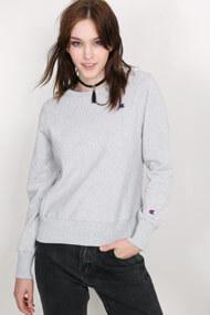 Champion - Sweatshirt - Heather Light Grey + Royal Blue